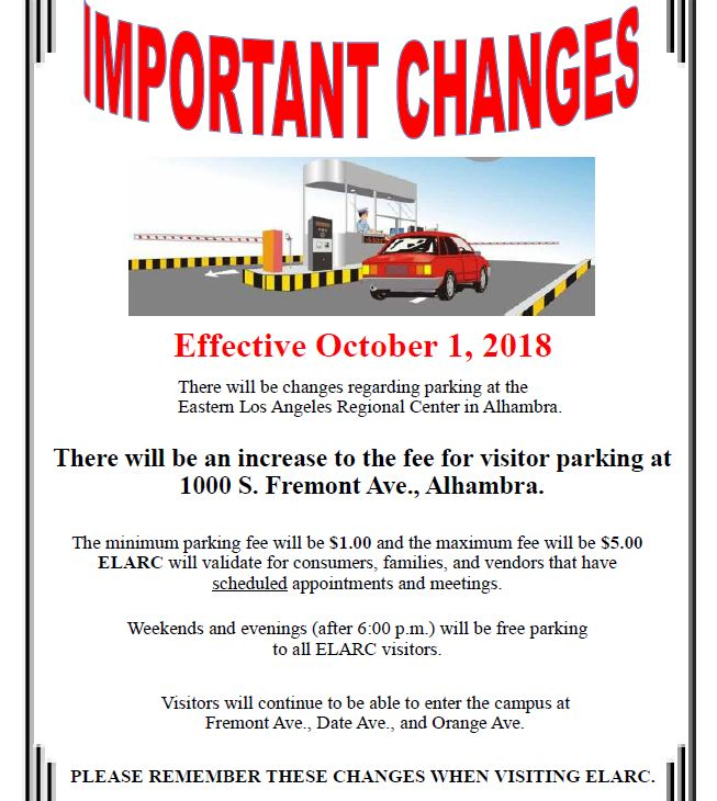 Parking Rate changes